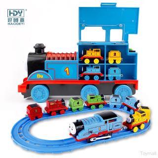 Đồ chơi xe lửa điện HDY điều biến âm quang lắp ghép cho bé trai