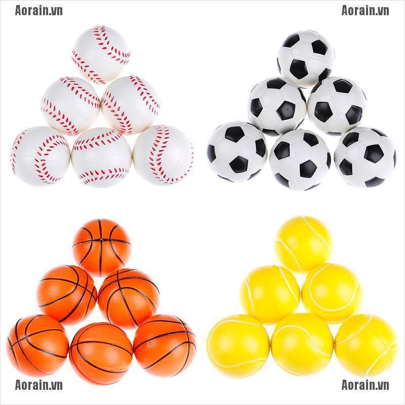 MT 6Pcs 6.3Cm Childrens Vent Balls Soccer Stress Balls For Stress Relief Ball Games NY