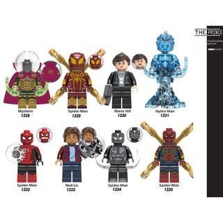 Bộ mô hình minifigures spiderman Far from home X0266
