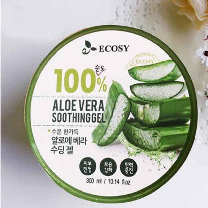 Gel dưỡng da đa năng từ Lô Hội Ecosy Aloe Vera 100% Soothing Gel 300ml