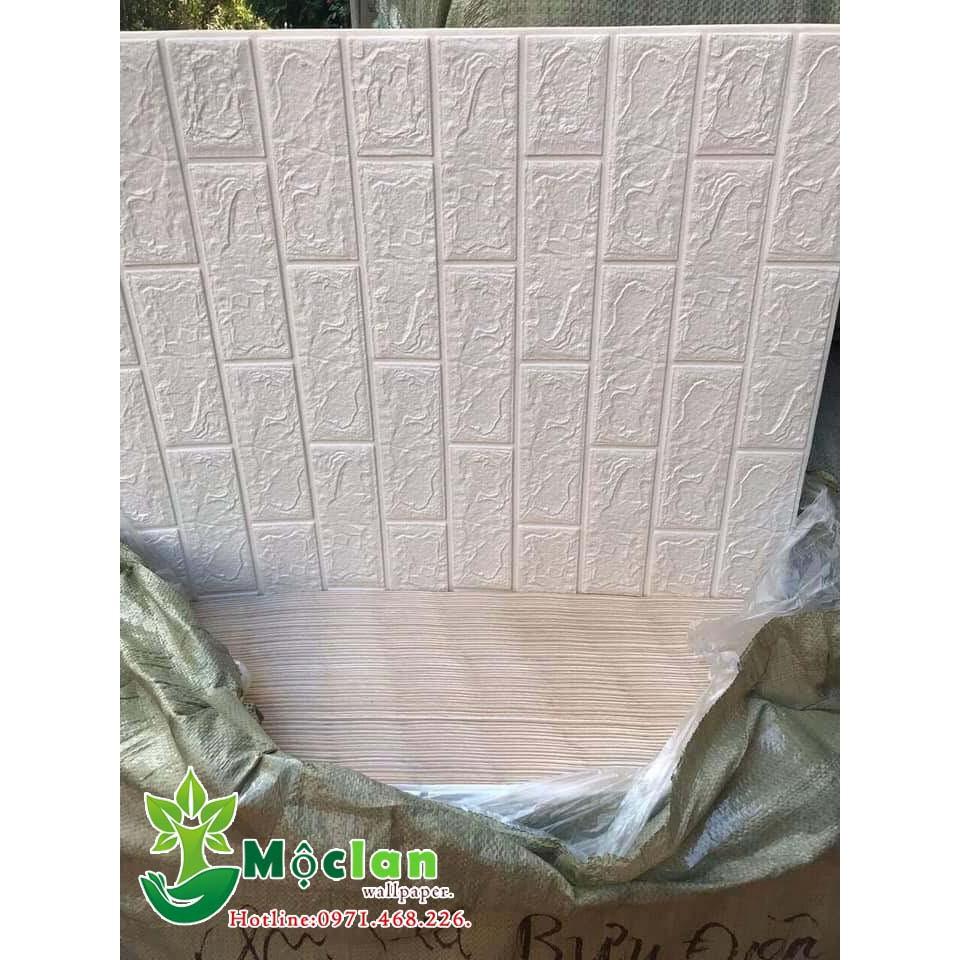 Miền Nam Xốp dán tường 3d rẻ nhất dày 4mm màu trắng.