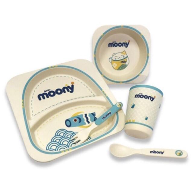 Bộ bát ăn dặm sợi tre Yookidoo quà tặng từ MOONY