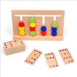 Bộ đồ chơi gỗ tư duy chấm tròn Montessori