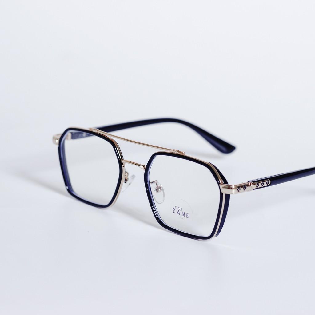 [LẮP SẴN CẬN] – Gọng kính cận nhựa dẻo , mắt kính vuông, kính 2 cầu Z014