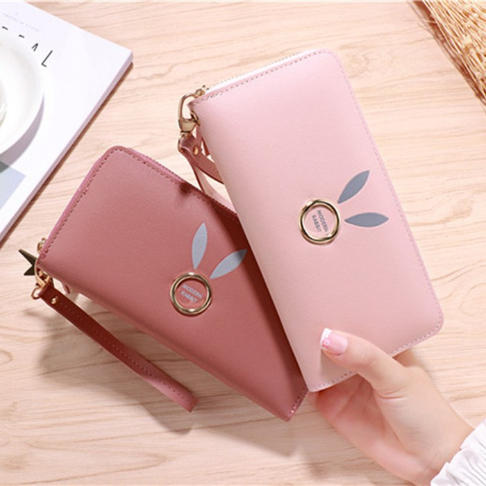 2020 new lady wallet long zipper sweet and cute wild atmosphere student fashion