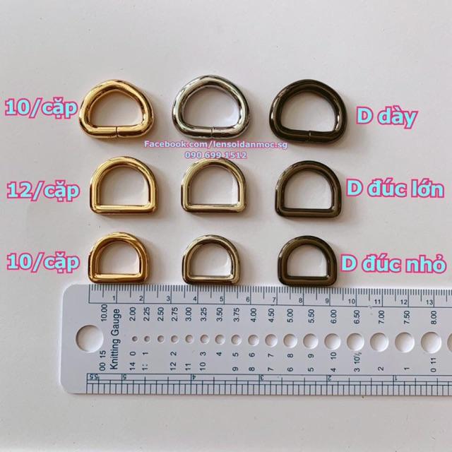 PK túi: Các loại khoen D, khoen U
