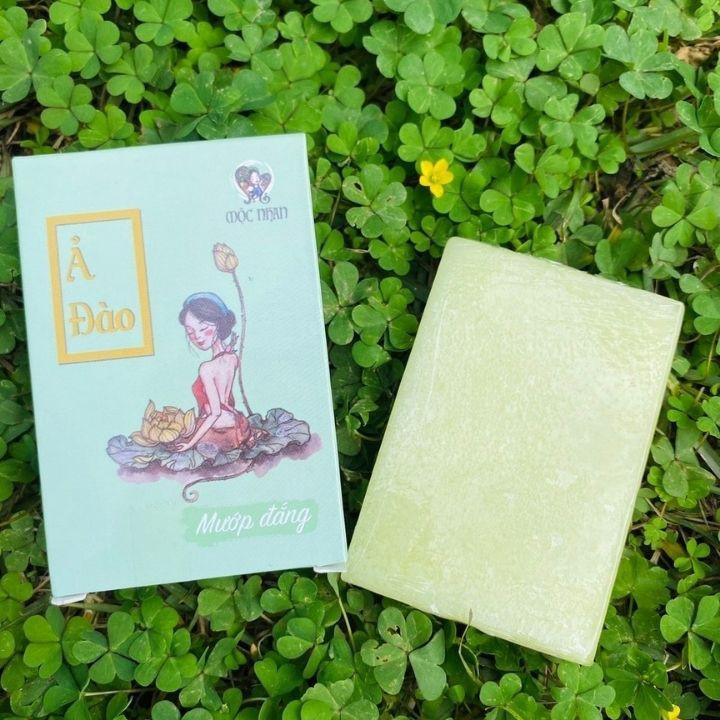 [100% THIÊN NHIÊN] Xà Bông Ả Đào Mướp Đắng Handmade Mộc Nhan Dành Cho Da Mụn, T.rị Viêm Chân Lông