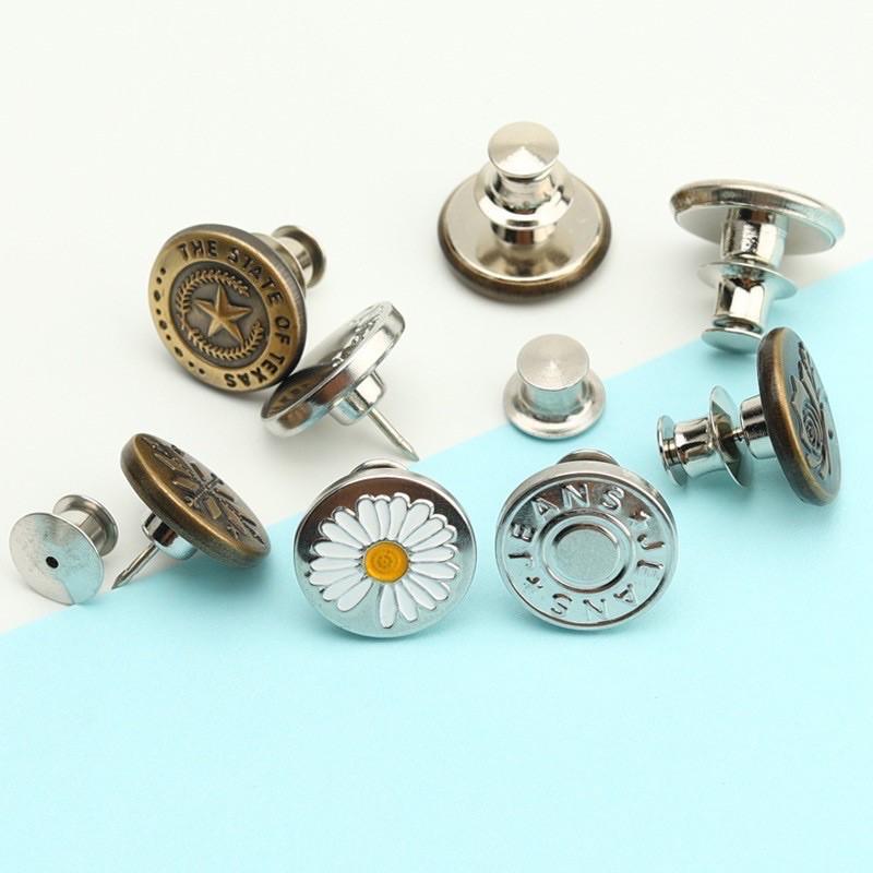 [Có sẵn] Nút cài đinh, nút gài, khuy cài ko cần đục lỗ điều chỉnh lưng quần jean quần bò cạp rộng cho nữ - hadt0305