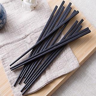 Bộ 10 đôi đũa nhựa - đũa ăn chịu nhiệt kháng khuẩn kiểu Nhật chống trơn phong cách trang nhã 2381 diệu shop thumbnail