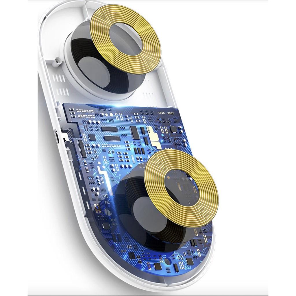 Đế sạc nhanh không dây 2in1 cho điện thoại và Airpods đa năng