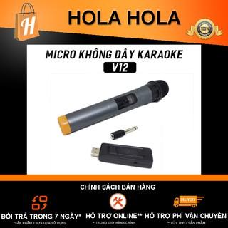 [Mã ELFLASH5 giảm 20K đơn 50K] Micro Karaoke V12 không dây BẢO HÀNH 3 THÁNG