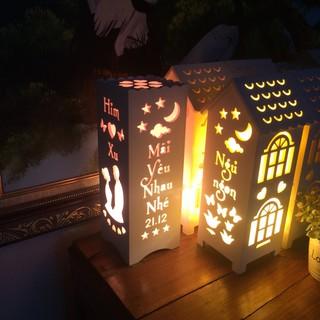 Quà Noel cho người yêu – Quà Giáng sinh ý nghĩa – Đèn ngủ handmade, khắc chữ theo yêu cầu