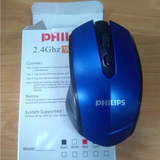Chuột bluetooth, chuột gaming không dây Philips 1200dpi, có nút điều chỉnh DPI, bảo hành 6 tháng lỗi 1 đổi 1 thumbnail