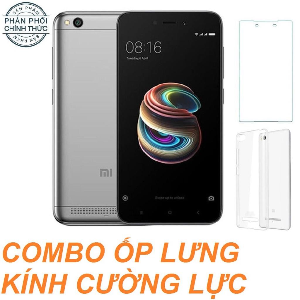Combo Xiaomi Redmi 5A 16GB Ram 2GB + Ốp Lưng + Cường lực- Hãng phân phối chính thức