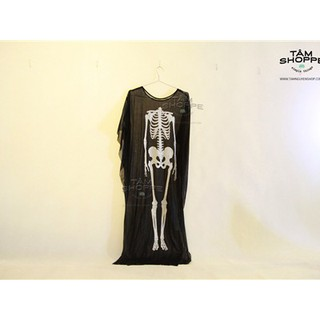Áo choàng Halloween in hình bộ xương size nhỏ