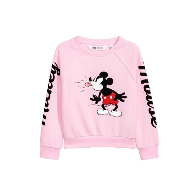 Áo Nỉ Bé Gái Mickey Hồng H&M