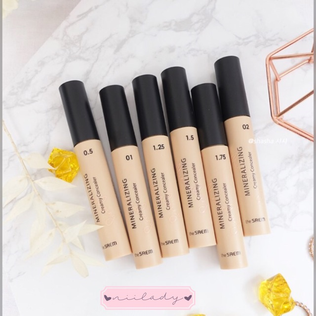 Che khuyết điểm The Saem Mineralizing Creamy Concealer