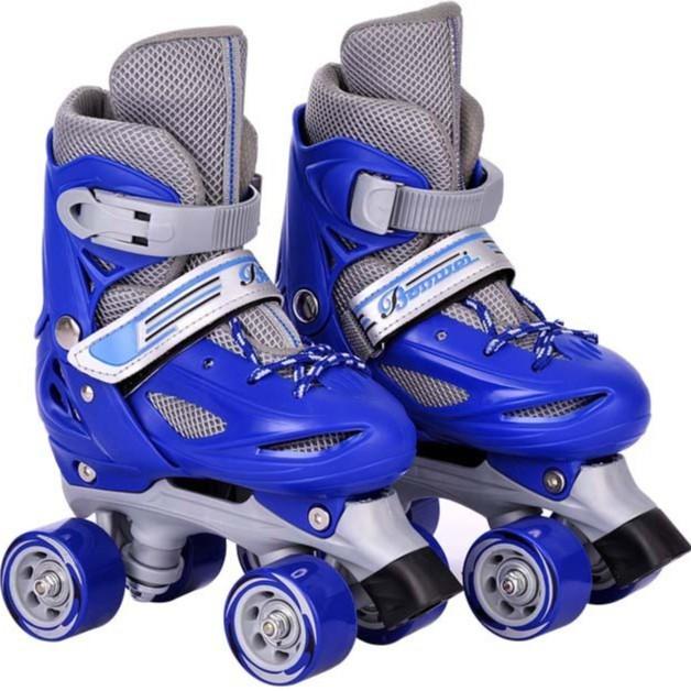 Giày trượt patin 2 hàng bánh tặng kèm bảo hộ chân tay trẻ em cho bé trai và bé gái