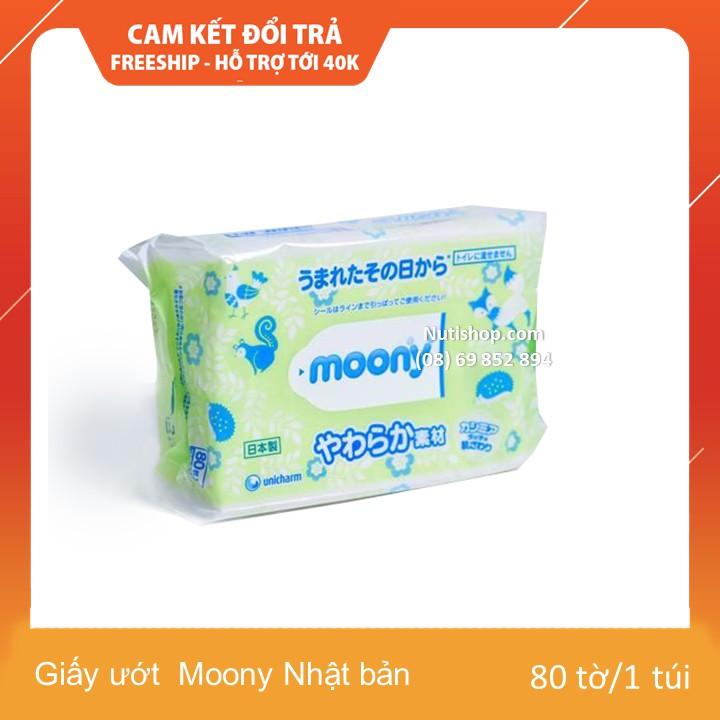 Giấy ướt Moony Nhật bản 80 tờ