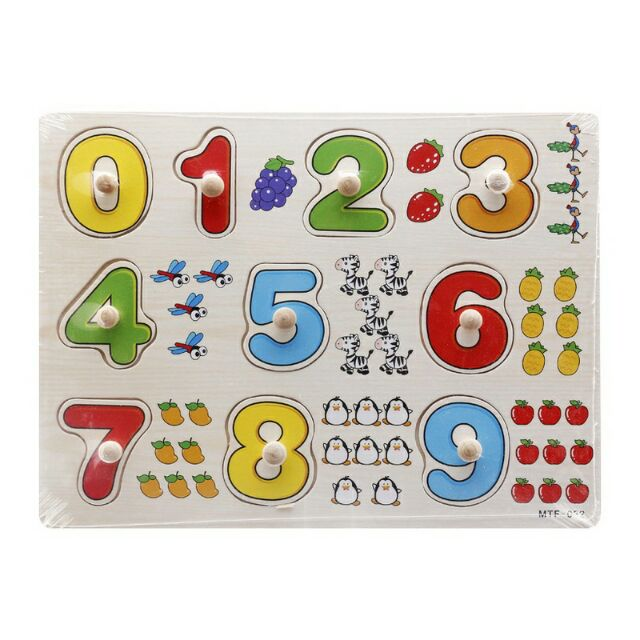 Bảng 10 số tập đếm có núm gỗ