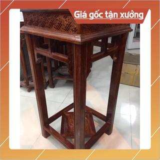 [Nội Thất Mộc] Ghế đôn gấm, gỗ hương, mặt ghế 38cm, cao 80cm, chân có đế, chạm sắc nét