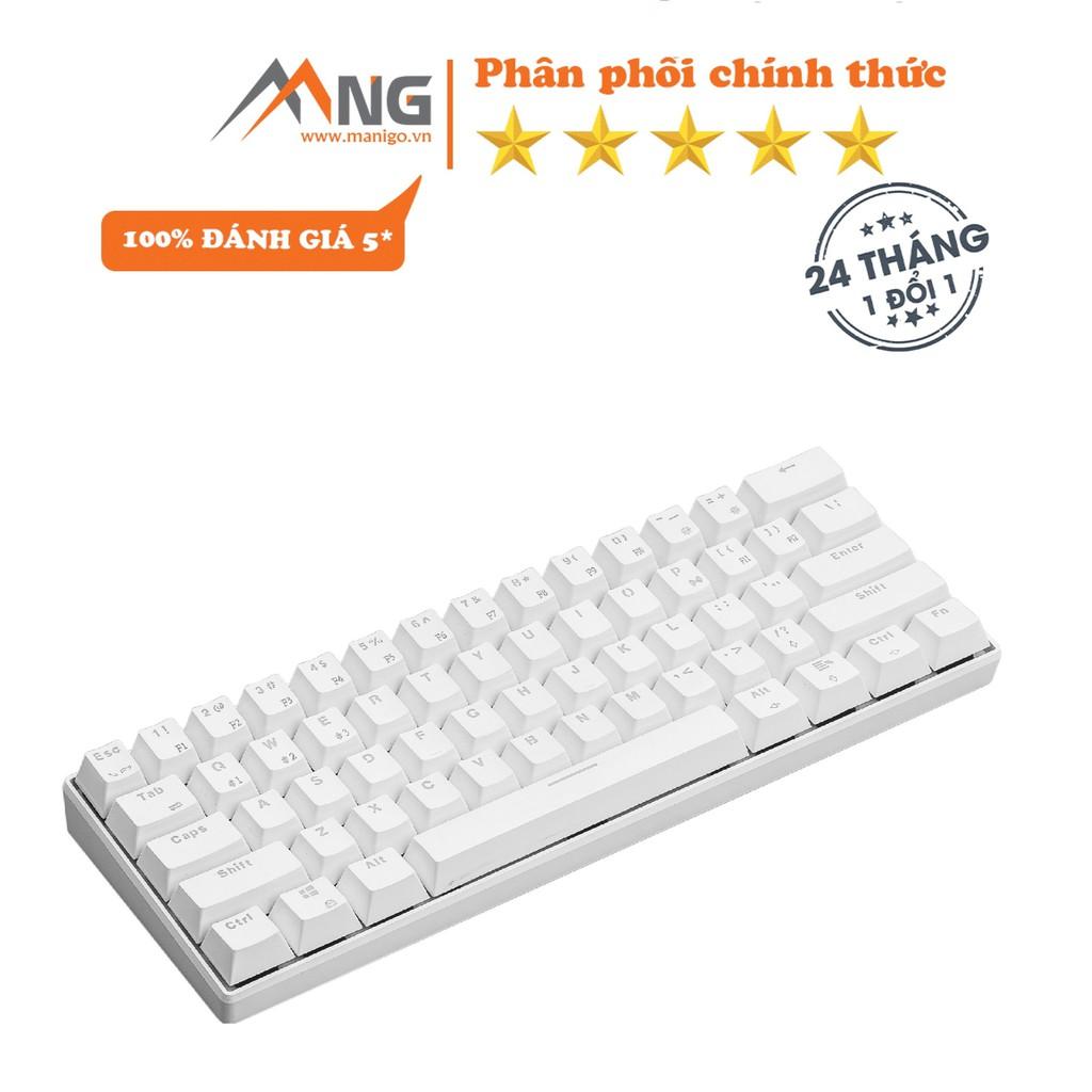 Bàn phím không dây Edra EK361W  cơ, pin lithium polymer, switch Outemu, 64 phím, chơi game, màu đen, trắng