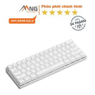 Bàn phím không dây Edra EK361W cơ, pin lithium polymer, switch Outemu, 64 phím, chơi game, màu đen, trắng thumbnail