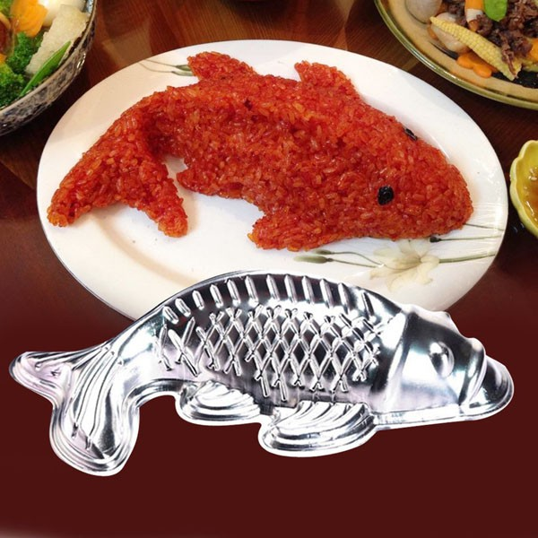 Khuôn xôi inox hình cá chép loại to