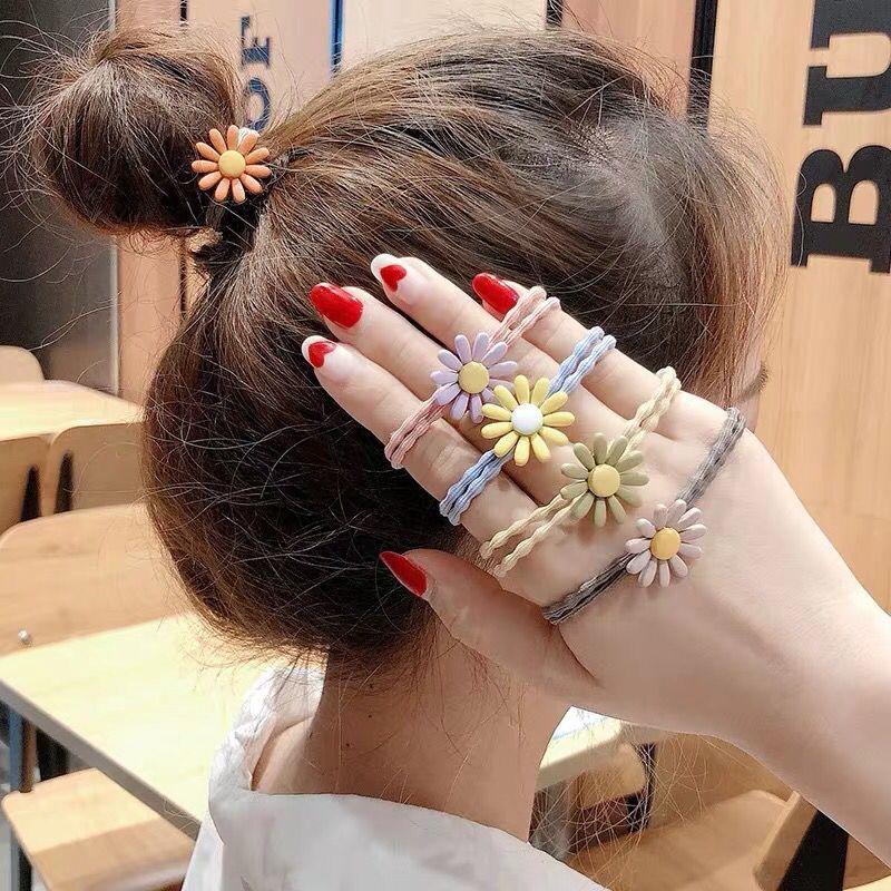 【RYT】Dây buộc tóc hoa cúc chi nhiều màu sắc hot trend