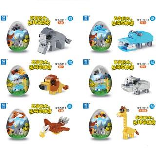 Lego trứng lắp ráp con vật ngộ nghĩnh 6 in 1