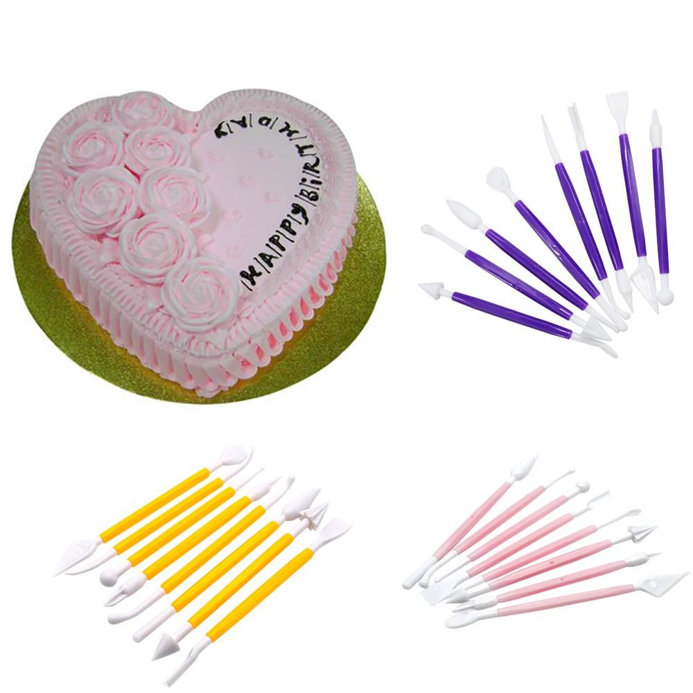 8 Pcs Kit sugarcraft Fondant Cake Decorating Modelling Tools