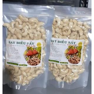 Hạt điều sấy chín đã bóc lụa hạt nguyên không có muối, ngon giòn rụm, sản phẩm chuẩn gốc Gia Lai