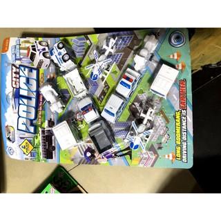 [SNND] vĩ đồ chơi xe bằng nhựa cho bé mã POLICE TRẮNG
