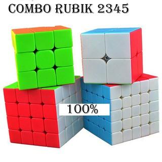 Bộ 4 Rubik MAGIC CUBE: 2x2x2, 3x3x3, 4x4x4, 5x5x5 – Hàng Cao cấp, Xoay trơn, Cực bền