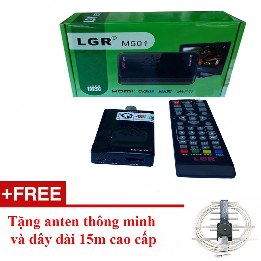 Đầu thu kỹ thuật số DVB-T2 LGR M501+Tặng anten thông minh dây dài 15m - 10045869 , 599062745 , 322_599062745 , 399000 , Dau-thu-ky-thuat-so-DVB-T2-LGR-M501Tang-anten-thong-minh-day-dai-15m-322_599062745 , shopee.vn , Đầu thu kỹ thuật số DVB-T2 LGR M501+Tặng anten thông minh dây dài 15m
