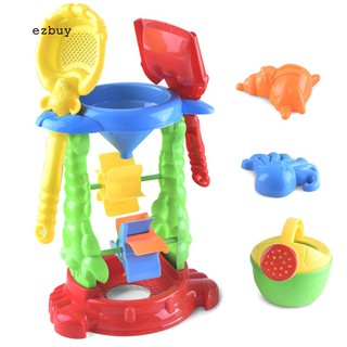 【EY】6Pcs Children Kids Outdoor Shovel Water Sprayer Sandbox Sand Beach Playing Toy