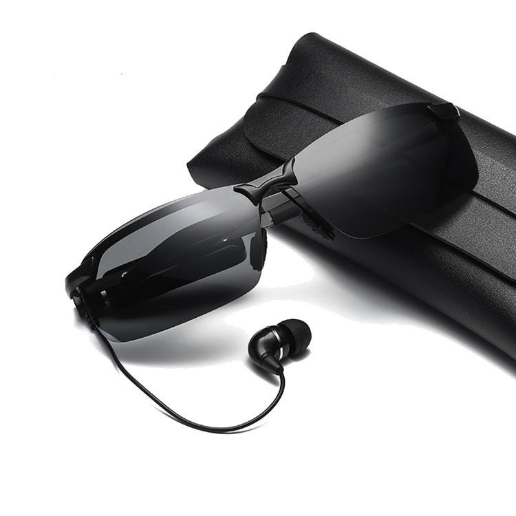 Kính Bluetooth, Kính Có Tai Nghe V8 Chống Tia Cực Tím - Mặt Polarized Chống Tia Hồng Ngoại, Tai Nghe...