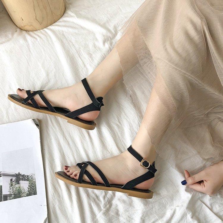 Giày Sandal Nữ Dây Đan Chéo Thời Trang