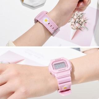Đồng hồ điện tử Mivino nam nữ họa cúc thời trang siêu hot DH106
