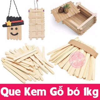 Que Kem Gỗ bó 1kg (1 cân~800 que) làm đồ handmade, đồ giáo dục Montessori (11,5x1cm)
