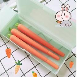 B2 Bút bi nước cà rốt mực đen bút hoạt hình bút dễ thương bút kute