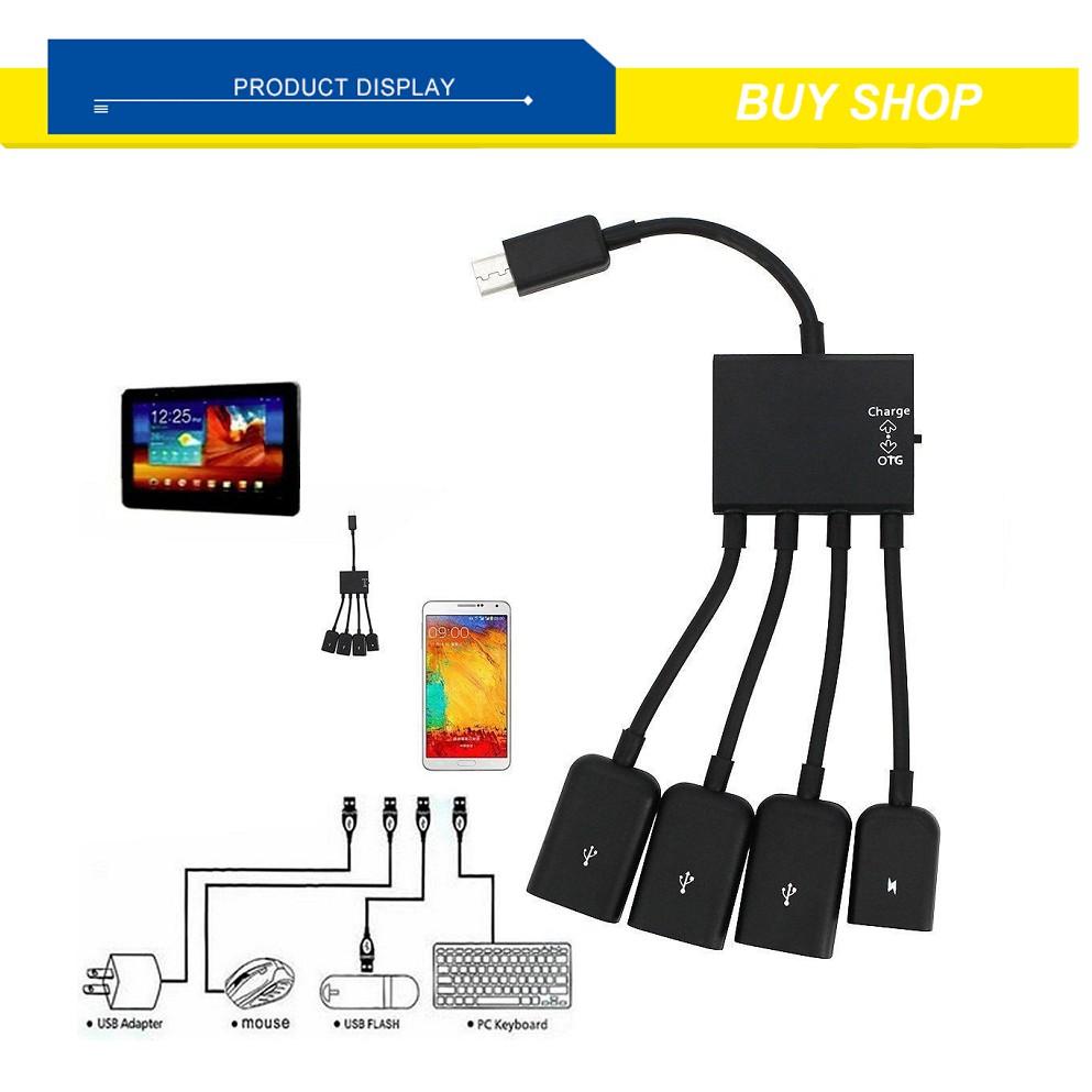Cáp OTG 4 đầu cho Android - Micro USB OTG 4 in 1 - Kết Nối Điện Thoại Với Bàn Phím Và Chuột - 3496013 , 1339274197 , 322_1339274197 , 102000 , Cap-OTG-4-dau-cho-Android-Micro-USB-OTG-4-in-1-Ket-Noi-Dien-Thoai-Voi-Ban-Phim-Va-Chuot-322_1339274197 , shopee.vn , Cáp OTG 4 đầu cho Android - Micro USB OTG 4 in 1 - Kết Nối Điện Thoại Với Bàn Phím V