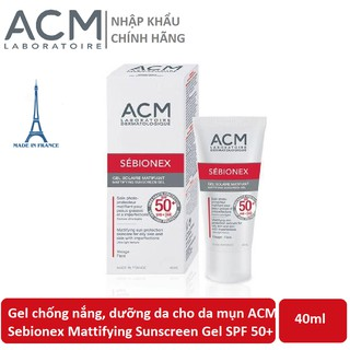 Gel chống nắng, dưỡng da cho da mụn ACM Sebionex Mattifying Sunscreen Gel SPF 50+ 40ml thumbnail