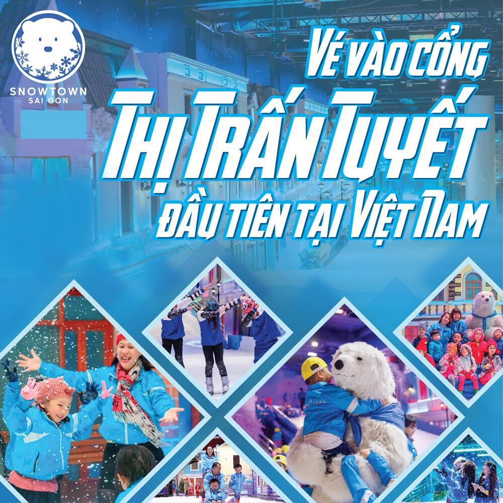 HCM [Voucher] 02 Vé giấy vào Snow Town khu vui chơi thành phố tuyết lớn nhất Sài Gòn dành cho 2 người