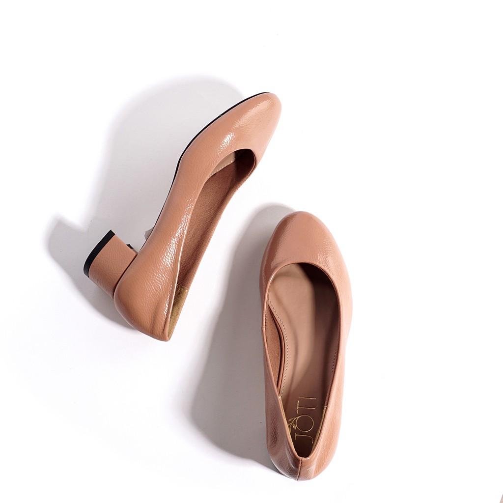 JOTI Giày Công Sở Nữ Jeanne 3191VN4 2020 - Mũi Tròn Gót Trụ Thấp 3cm - Mang Đi Làm Dạo Phố Dự T
