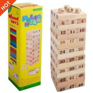 [ẢNH TỰ CHỤP] – [Nhập TOYAPR10K giảm ngay 10K]đồ chơi rút gỗ 48 miếng nặng 1kg