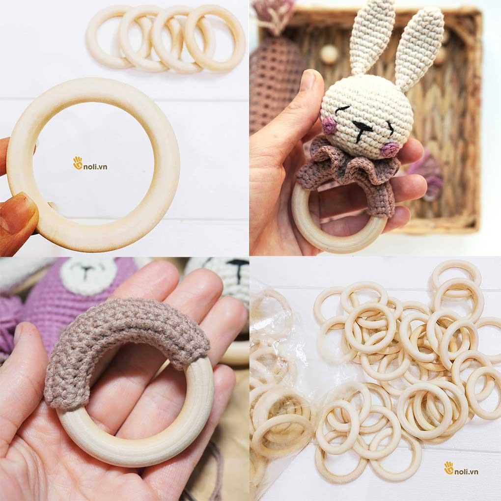 Lục Lạc Vòng Gỗ làm đồ chơi cho bé