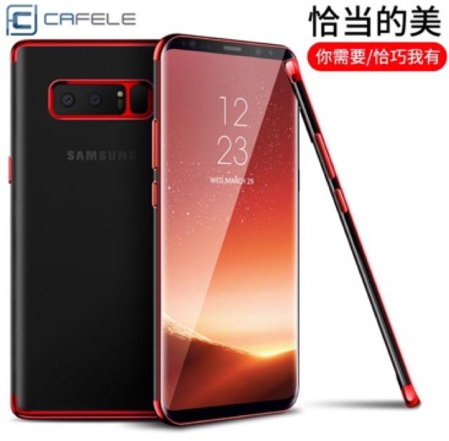 Samsung Note 8 - Ốp Dẻo Chính Hãng Cafele Viền Màu