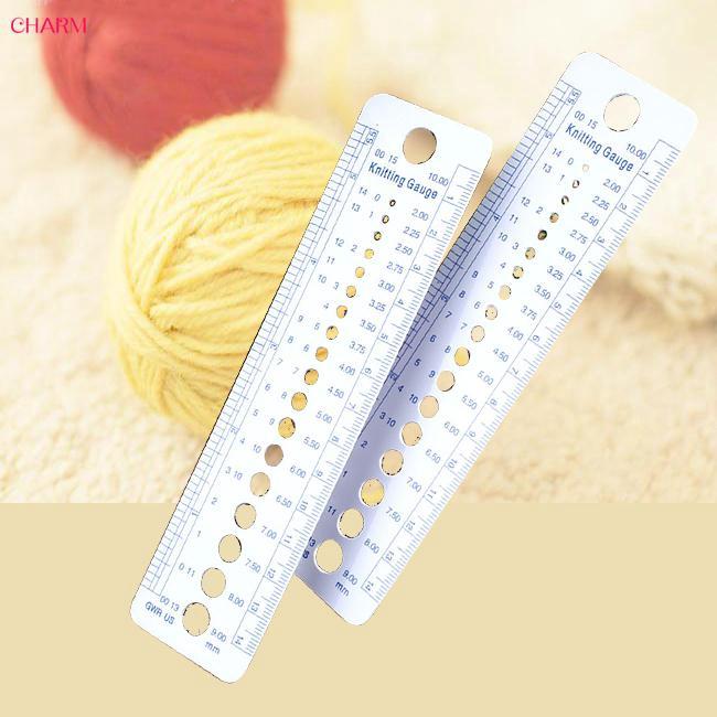 CHARM Sizer Measure Tool US Knitting Metric 2pcs Needle Gauge