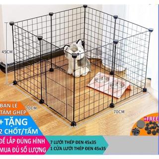 chuồng quây chó mèo thỏ gà cho thú cưng. Quây lắp rộng 70cm sâu 70cm cao 37cm hoặc 47cm 1